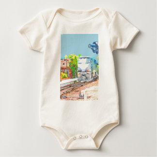 Zug-Ankunft Baby Strampler