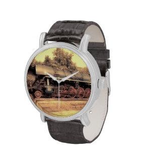 Zug-Dampf-Eisenbahn Steampunk Motor-Schicksal Uhren