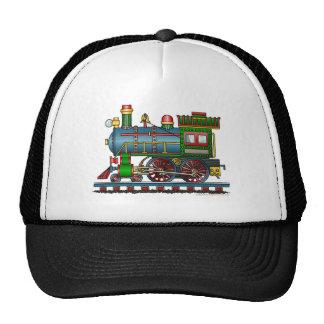 Zug-Dampf-Motor Choo Choo Hüte Netz Caps