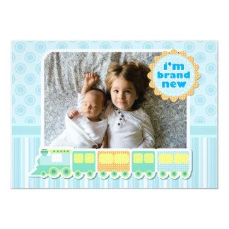 Zug-Foto-Geburts-Mitteilung 12,7 X 17,8 Cm Einladungskarte