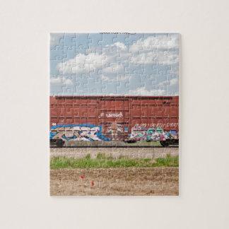 Zug-Graffiti Puzzle