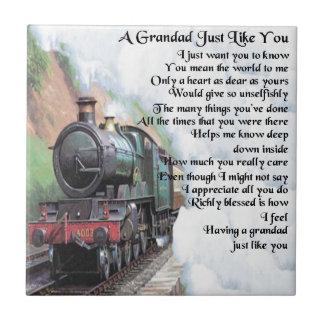 Zug - Grandad-Gedicht Fliese