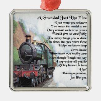 Zug - Grandad-Gedicht Silbernes Ornament