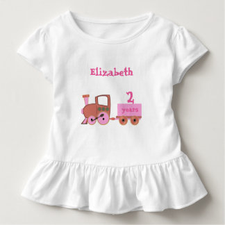 Zug mit Altersmädchen Kleinkind T-shirt