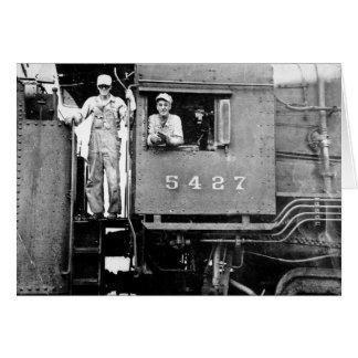 Zug-Motor-Eisenbahn des Motor-5427 Vintage Karte
