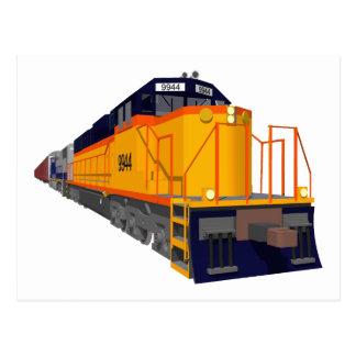 Zug-Motor: Klassisches Farbschema: Postkarte