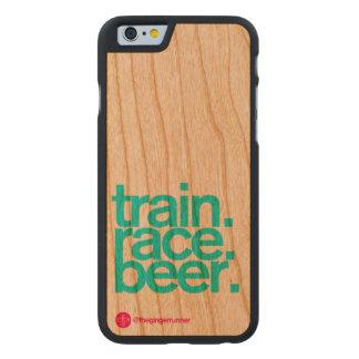 Zug-Rennen-Bier iPhone 6 Holzetui Carved® iPhone 6 Hülle Kirsche
