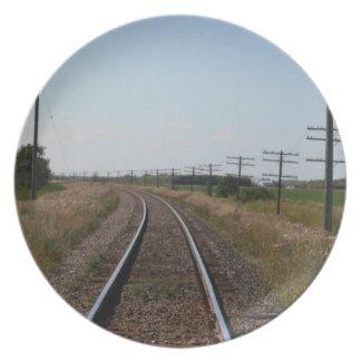 Zug spürt Platte auf Teller