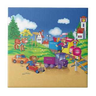 Zug und Auto Keramikfliese