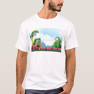 Zug und Berg T-Shirt