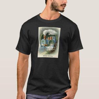 Zug vergessen mich nicht Klee-Taube T-Shirt