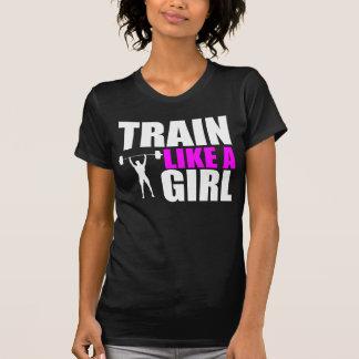 Zug wie ein Mädchen - Damen-Auslese-geeignetes T-Shirt