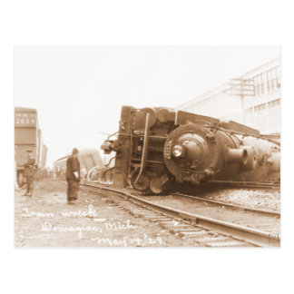 Zug-Wrack 1929 Postkarte