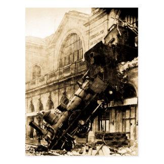 Zug-Wrack bei Montparnasse, am 22. Oktober 1895 Postkarte