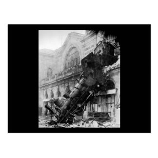 Zug-Wrack bei Montparnasse, Eisenbahn-Desaster Postkarte