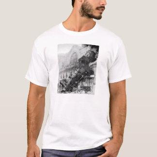 Zug-Wrack! Vintage Dampf-Lokomotive T-Shirt