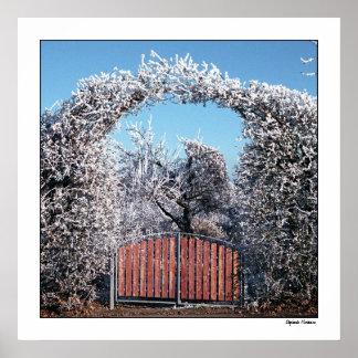 Zugang nach Winter-Märchenland Poster