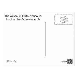 Zugang und Statehouse Postkarte