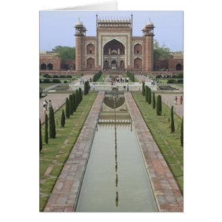 Zugang zu Taj Mahal, Indien Karte