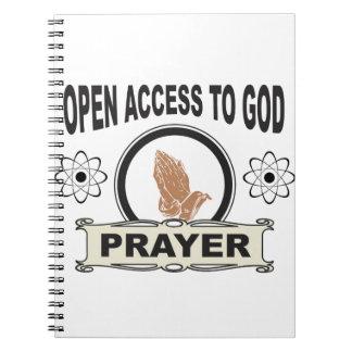 Zugangsgebet Notizblock