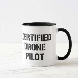 Zugelassene Drohne-Pilotkaffee-Tasse Tasse