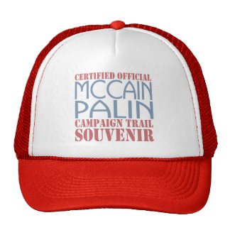 Zugelassene offizielle McCain Palin Andenken Retrokappe