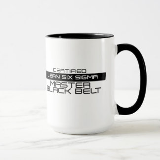 Zugelassene schwarzer Gurt-Kaffee-VorlagenTasse Tasse