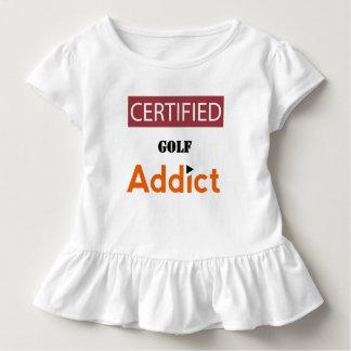 Zugelassener Golf-Süchtiger Kleinkind T-shirt