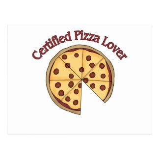 Zugelassener Pizza-Liebhaber - addieren Sie Sie Postkarte