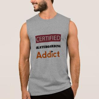Zugelassener Skateboarding Süchtiger Ärmelloses Shirt