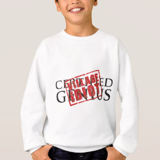 Zugelassenes Genie: Dorfidiot-Gummi-Briefmarke Sweatshirt