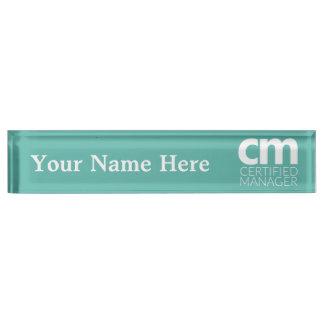 Zugelassenes Manager-Schreibtisch-Nummernschild