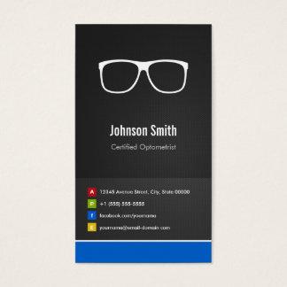 Zugelassenes Optometriker-optisches kreatives Visitenkarte