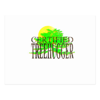 Zugelassenes Treehugger Postkarte