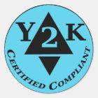 Zugelassenes Y2k konform Runder Aufkleber