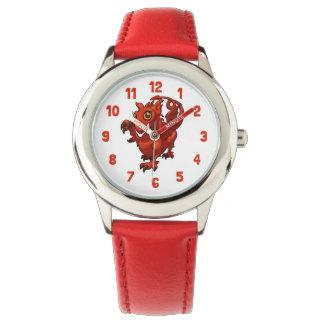 Zügelloses kleines Waliser-Baby-roter Armbanduhr