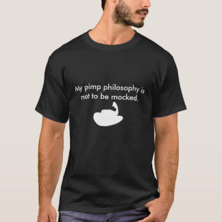 Zuhälter-Philosophie mit Hut T-Shirt