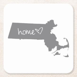 Zuhause <3 Massachusetts Rechteckiger Pappuntersetzer