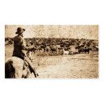 Zuhause auf dem Strecken-Vintager Cowboy-alten Visitenkarten