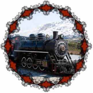 Zuhause auf dem Zug für Weihnachtsverzierung Fotoskulptur Ornament