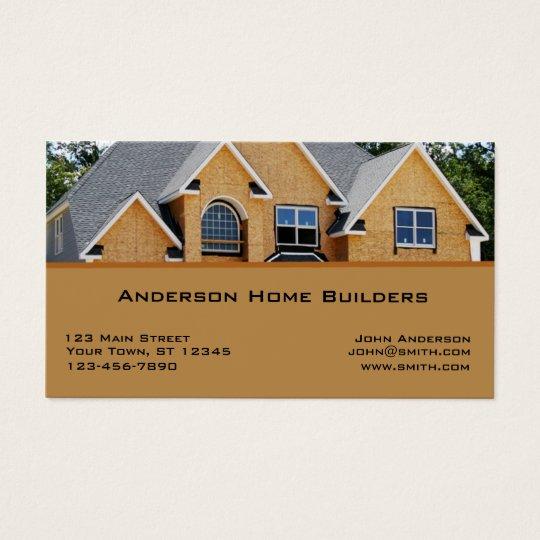 Zuhause bau gesch fts karte visitenkarte zazzle for Luxury home descriptions