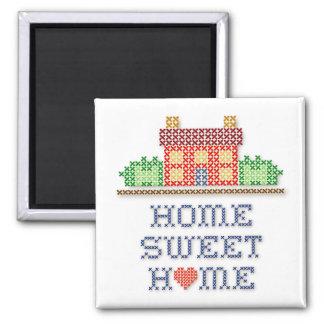 Zuhause-Bonbon-Zuhause Quadratischer Magnet