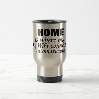 Zuhause der Tassen-  ist wo… Edelstahl Thermotasse