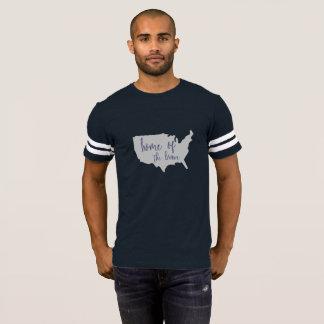 Zuhause des tapferen Amerikas 4. Juli-Shirts T-Shirt