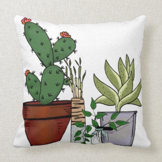 Zuhause-eingemachte Pflanzen-Gekritzel-Kunst Kissen