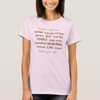 ZUHAUSE-Freunde REDEN wirkliches   Leben F Fotos   T-Shirt