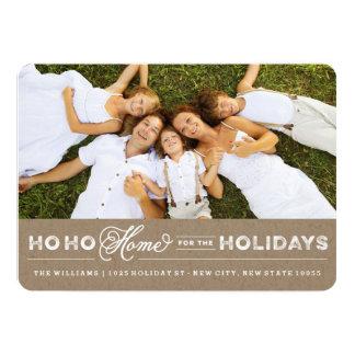 Zuhause für die Feiertage Mitteilungs-Karte 12,7 X 17,8 Cm Einladungskarte