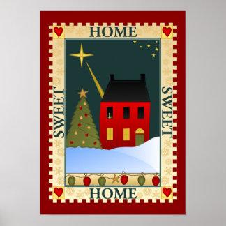 Zuhause für die Feiertage Poster