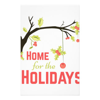 Zuhause für Feiertage Briefpapier