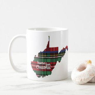 Zuhause für Weihnachtswest- virginiaTasse Kaffeetasse